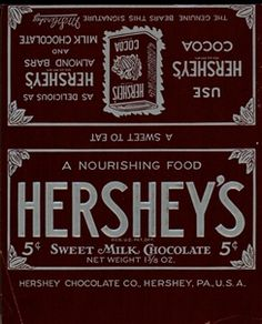 Hershey Community Archives   Hershey's Milk Chocolate: Bar Wrappers over the years