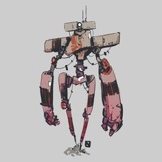 Robotics Reshaping the Global Workforce Arte Robot, Robot Art, Character Concept, Character Art, Gareth Davies, Robot Sketch, Illustrator, Robot Illustration, Robots Characters