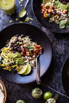 Spicy Southwest Quinoa Bowl | halfbakedharvest.com @hbharvest @old