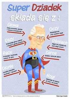 ePrzedszkolaki - karty pracy i pomoce dydaktyczne do wydruku, gry edukacyjne dla dzieci online Grandparents Day Crafts, Diy And Crafts, Crafts For Kids, Life Hackers, Weekend Humor, Diy Valentines Cards, Family Day, Classroom Activities, Coloring Pages For Kids