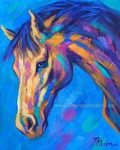 "Summer Breeze by Theresa Paden Acrylic ~ 10"" x 8"""