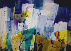 Urban Jungle by sterling edwards Watercolor ~ 22 x 30