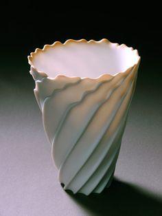Ceramics by Rolf Bartz at Studiopottery.co.uk - 2006, Seashell study 4-004 Height 15cm. Width 11cm.