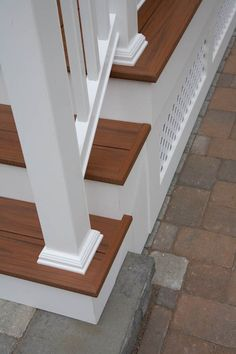 Composite porch stairs and railing | Glastonbury CT