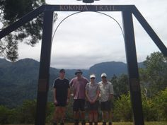 Owers Corner, Kokoda Track, Papua New Guinea: Our trekkers pose for photos under the famous Kokoda arch before beginning their trek from south to north. Poses For Photos, Papua New Guinea, Trek, Corner, Tours, Places, Pictures, Photos, Paintings