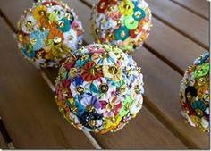 Adorartes: Mais Bolinhas (e bolonas) de Isopor