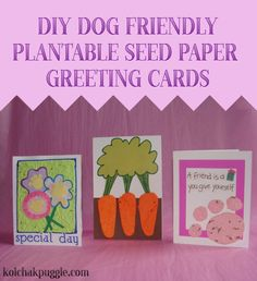 Make these dog friendly seed paper cards and give the gift of beauty this Easter. vis @KolsNotes