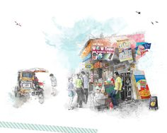 illustration water color, sketch, digital illustration, cebu-mactan trip