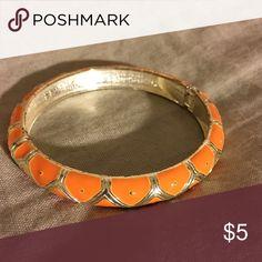 Orange & Gold Bangle Great condition!! Jewelry Bracelets
