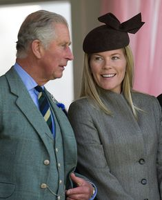 Prince Charles, Prince of Wales and Autumn Phillips attend the Braemar Gathering on September 5, 2015 in Braemar, Scotland.