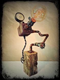 No. 78  Reclaimed Weathered Wood Reused Copper by RetroSteamWorks, $174.95