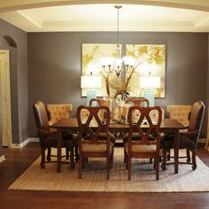 Dining Room - traditional - dining room - dallas - Cristi Holcombe Folkstone 6005 from Sherwin-Williams.