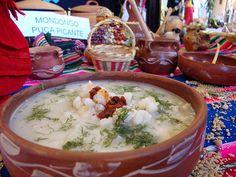 El sabroso Sopa de mote o Mondongo.