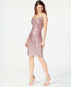 Laundry by Shelli Segal Embellished Ruched Sheath Dress - Light Pink Sequin Dress, Pink Dress, Bodycon Dress, Laundry By Shelli Segal, Plus Size Activewear, Review Dresses, Jeans Dress, Baby Clothes Shops, Trendy Plus Size