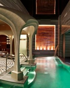 Revel, Atlantic City, New Jersey..... Yes, Jersey. The centerpiece of the lavish Bask Spa is a co-ed bathhouse with a salt grotto. #Jetsetter