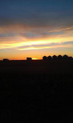 An American Farm as the sun goes down!!