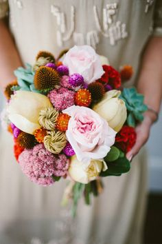 Gorg colourful bouquet - Upstate New York Wedding from Redfield Photography New York Wedding, Dream Wedding, July Wedding, Wedding Bouquets, Wedding Flowers, Wedding Colors, The Design Files, Floral Arrangements, Flower Arrangement