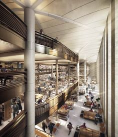 The New York Public Library has unveiled proposals for the integration of the Circulating Library into its flagship Stephen A. Schwarzman Building on 42nd Street – Lord Foster presented the plans at the launch of the public exhibition.