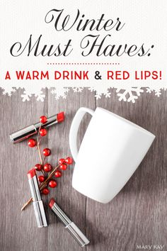 Need a gift idea for the tea or coffee lover in your life? Gift a holiday mug full of True Dimensions® Lipstick. It's easy to put together, and oh, so cute! | Mary Kay