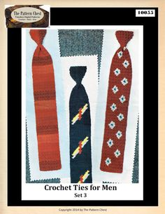 Classic Vintage Crochet Patterns Three Mens and by ThePatternChest