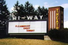 This is the old Hi-way Drive-in in Latrobe PA...we miss going there...Sundays were nice when they had outdoor fleamarkets!...they tore it down to build a CVS!...Really??