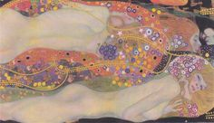 Water Snakes II, 1907 by Gustav Klimt, Golden phase. Art Nouveau (Modern). allegorical painting. Private Collection