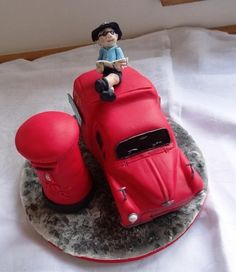 Post Box Cake, British Cake, Sculpted Cakes, Morris Minor, All Fruits, Novelty Cakes, Creative Cakes, Themed Cakes, Cake Decorating