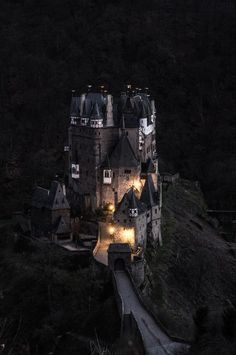 Naturally spooky Burg Eltz :) - a medieval castle nestled in the hills above the Mosel river between Koblenz and Trier, still owned by a branch of the same family that lived there in the 12th century, 33 generations ago.