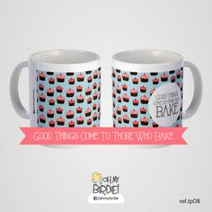 Good Things Come to those Who Bake Baked Goods, Tin, Blog, Good Things, Mugs, Baking, My Love, Tableware, Gifts