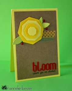 handmade card from desert diva: Bloom where you are planted ... clever use of die cut octogons to make a layered flower ... great card!