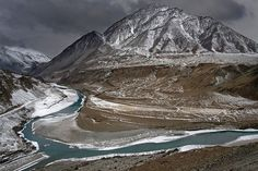 Zanskar and Indus Confluence, Ladakh, India . . . just a few hours drive west of Leh (the capital). . .  . . :))