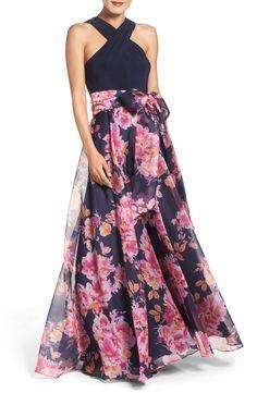 Beautiful floral print ballgown