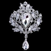 Selling high-end rhinestones alloy brooch women in Europe and foreign trade explosions Crown glass brooch LB2078