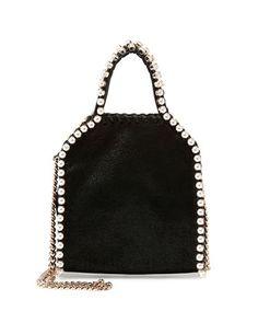Tiny Pearly Falabella Tote Bag, Black by Stella McCartney at Bergdorf Goodman.
