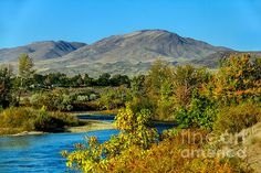 Payette River And Squaw Butte: See more at:  http://fineartamerica.com/profiles/robert-bales.html