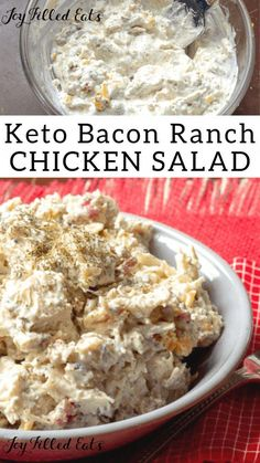Bacon Ranch Easy Chicken Salad Bacon Ranch Easy Chicken Salad This keto r . - Bacon Ranch Easy Chicken Salad Bacon Ranch Easy Chicken Salad This keto recipe is so simple and so - Ketogenic Diet Meal Plan, Ketogenic Diet For Beginners, Keto Meal Plan, Diet Meal Plans, Ketogenic Recipes, Ketogenic Supplements, Meal Prep, Diet Menu, Ketogenic Cookbook