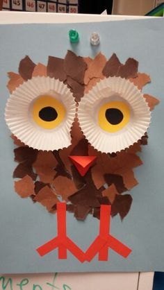 Kindergarten Art Activities, Fall Preschool Activities, Thanksgiving Crafts For Kids, Preschool Crafts, Frog Crafts, Owl Crafts, Craft Stick Crafts, November Crafts, Fall Art Projects