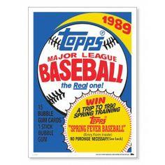 Topps 1989 Baseball Wrapper Art Print | topps.com