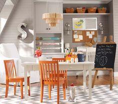 Carolina Craft Table | Pottery Barn Kids - over Chevron rug