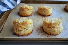 A quick and easy biscuit recipe flavored with garlic powder and oozing with sharp cheddar (adapted from the Davis Baking Powder can). It's high-rising, flaky, and only takes 20 minutes to mix up!
