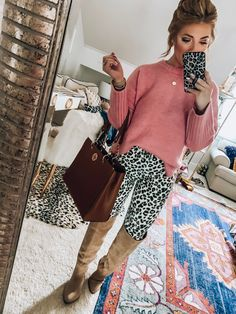 Nordstrom Anniversary Sale 2019 Public Access + TEN Styled Sale Looks Mom Outfits, Office Outfits, Fall Outfits, Slouchy Sweater, Pink Sweater, Faux Fur Hoodie, Sweaters And Jeans, Nordstrom Anniversary Sale, Striped Cardigan