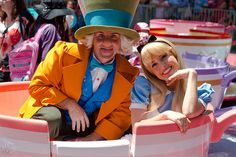 Alice and the Mad Hatter.