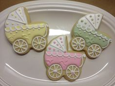 Decorated Sugar Cookies | Baby Carriage Decorated Sugar Cookies by DecoratedDesserts on Etsy