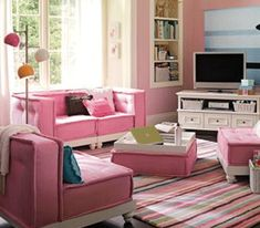 Pink-living-room-colors-decorating-interior-ideas
