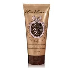 Use our instant bronzing and self-tanning lotion for a quick bronze fix or to build your sun-less tan with daily application. Tanning Bed in a Tube's fast-drying formula won't streak or rub off onto clothing.  The vegan-friendly product also includes Grape Seed Extract & Safflower Oil that condition and moisturize for sexy, smooth skin.