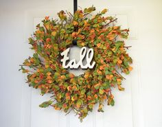 Wreath for Fall Fall artificial eucalyptus by laurelsbylaurie