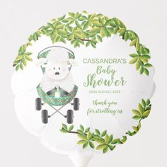 Neutral Green Lamb Baby Shower Balloon - animal gift ideas animals and pets diy customize Baby Shower Ballons, Baby Shower Parties, Shower Party, Baby Balloon, Shower Gifts, Photo Balloons, Baby Shower Table Decorations, Balloon Shapes, Custom Balloons