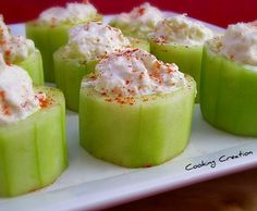 Cooking Creation: Crab-Stuffed Cucumber Cups
