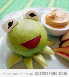 Kermit the Frog Apple | Cute Fruit | CutestFood.com