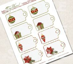 Traditional Holiday Gift Tags